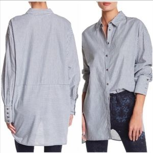 [Free People] Striped Button Down